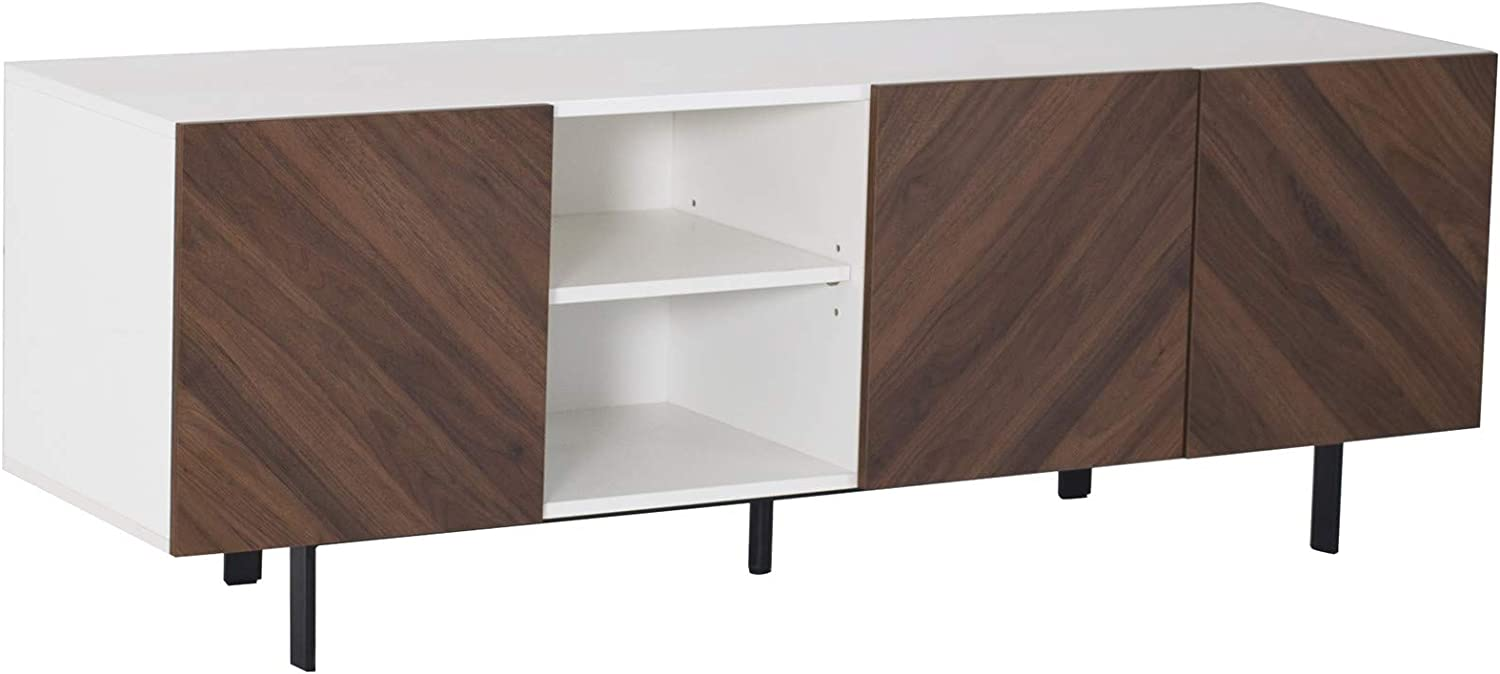 "Amazon Brand – Rivet Modern Media Cabinet with Self-Closing Doors, 59""W"