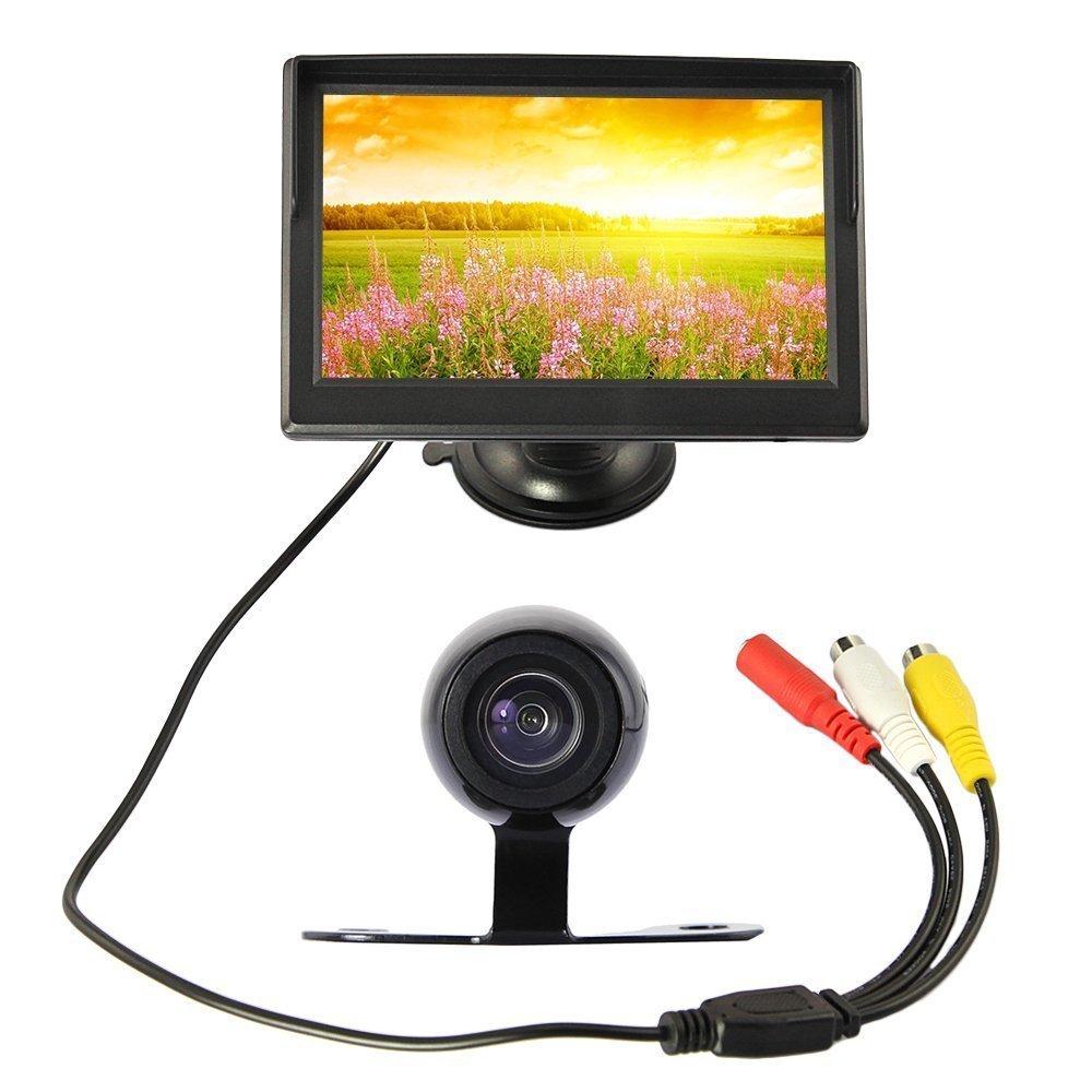 5 Zoll TFT LCD im Rueckfahrkamera Monitor Parkplatz Backup Kamera mit NTSC // PAL Videoformat SODIAL Aufloesung 320x240 Wasserdichte IP67//IP68 von 170 /¡/ãObjektiv Winkel 480TVL Aufloesung R