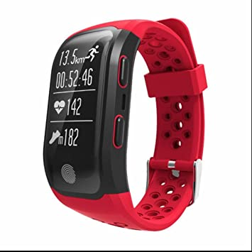 Smart banda S908 Smart Pulsera IP68 resistente al agua Touch Key Pulsómetro Smart Reloj de pulsera bluetooth 4,2 GPS Fitness Tracker Smart Pulsera: ...