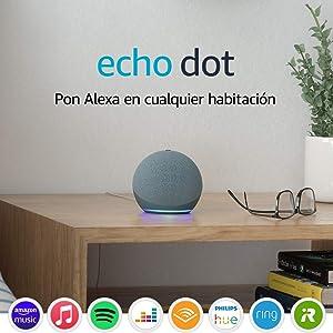 Nuevo Echo Dot (4.ª generación)   Altavoz inteligente con Alexa   Azul grisáceo