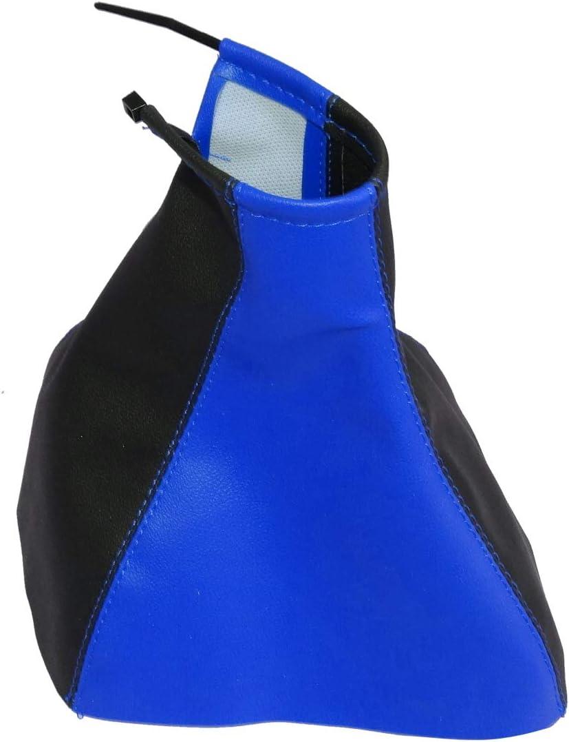 AERZETIX noir avec surpiq/ûres noires Soufflet de levier de vitesse en simili cuir avec couture//surpiq/ûres couleurs variables