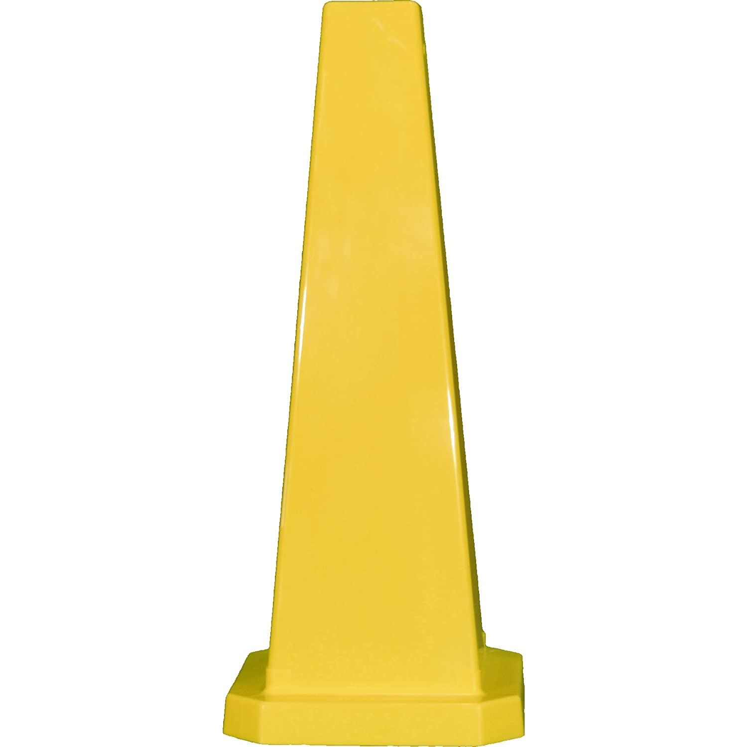 25 Yellow Cortina Safety Products 03-600-12 Lamba Cones Pack of 5 Plain