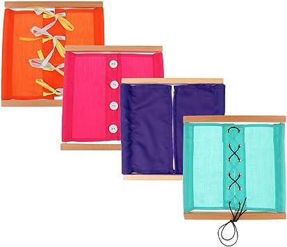 Montessori Material Educativo de Vida Diaria, Caja de Ropa, Tela ...