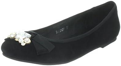 S122627, Damen Ballerinas, Schwarz (black), EU 37 Sofie Schnoor