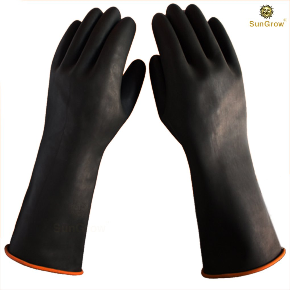 SunGrow 2 Aquarium Water Change Gloves (14'') - Keep Hands & arms Dry, allergen- and Contamination-Free During Fish Tank Maintenance: Elastic Forearm Seal and Prevent leaks: Heavy-Duty Construction