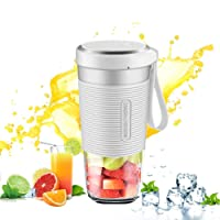 Morphy Richards Portable Blender Fruit Juice Mixer USB Smoothies 300ml Home Outdoor Travel Juicer Rechargeable Mini BPA Free(White)