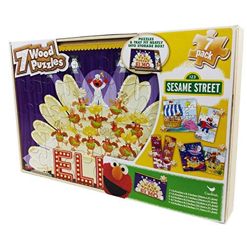 Sesame Street Puzzles Wooden Storage