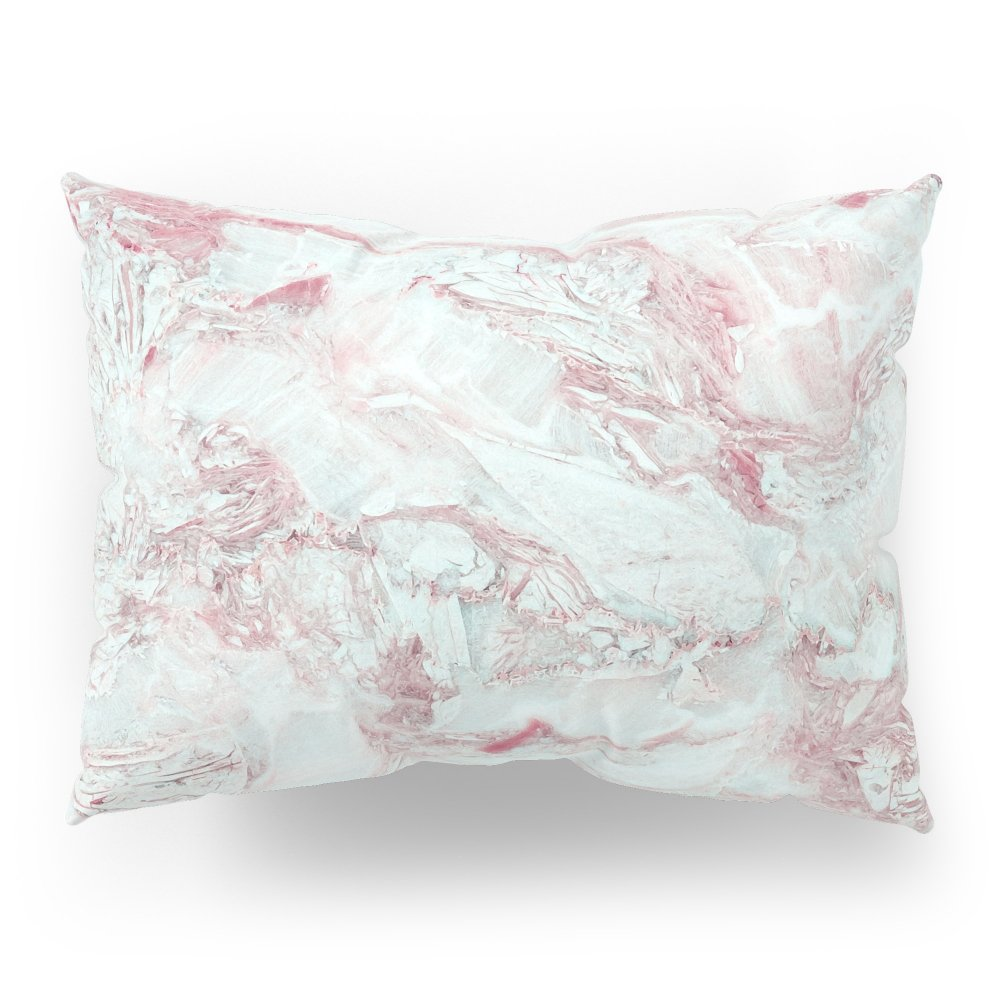 Society6 Blue And Pink Marble Pillow Sham Standard (20'' x 26'') Set of 2