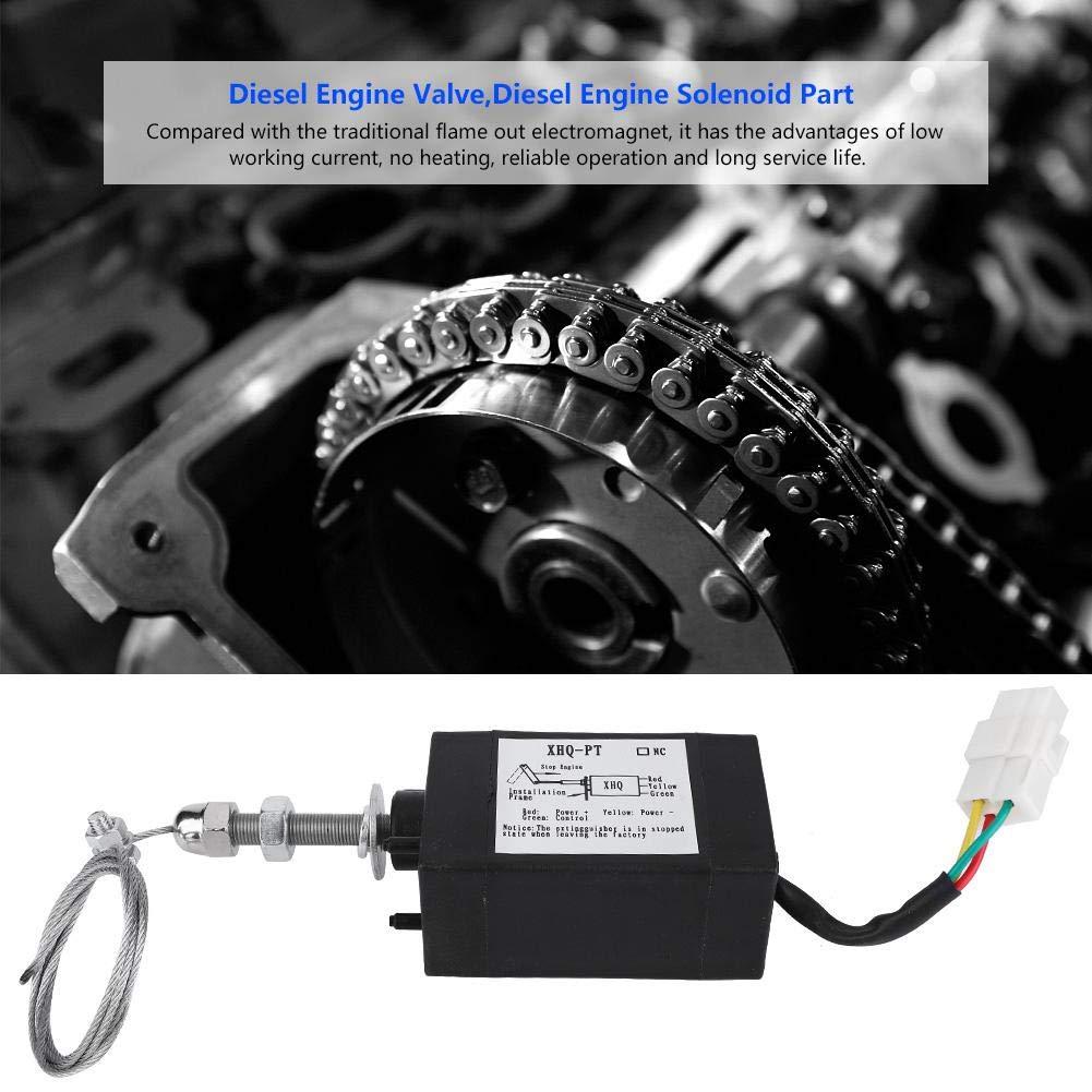 Disel Engine Solenoid Valve 12V DC 12//24V XHQ-PT Engine Solenoid Valve for Different Types of Diesel Engines