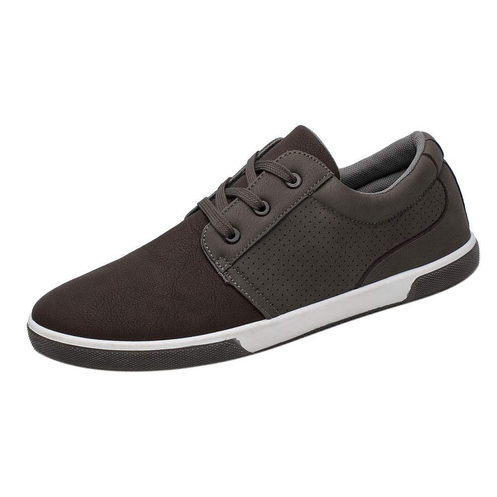 AIMEE7 Baskets Mode Hommes Pas Cher Chaussures de Sport Adulte Etudiant Chaussures Basses d/épissure Couleur D/écontract/ée Sneakers Basses Homme