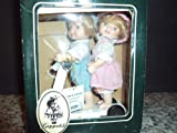 Geppeddo Carrie and Conner Dolls on Wooden