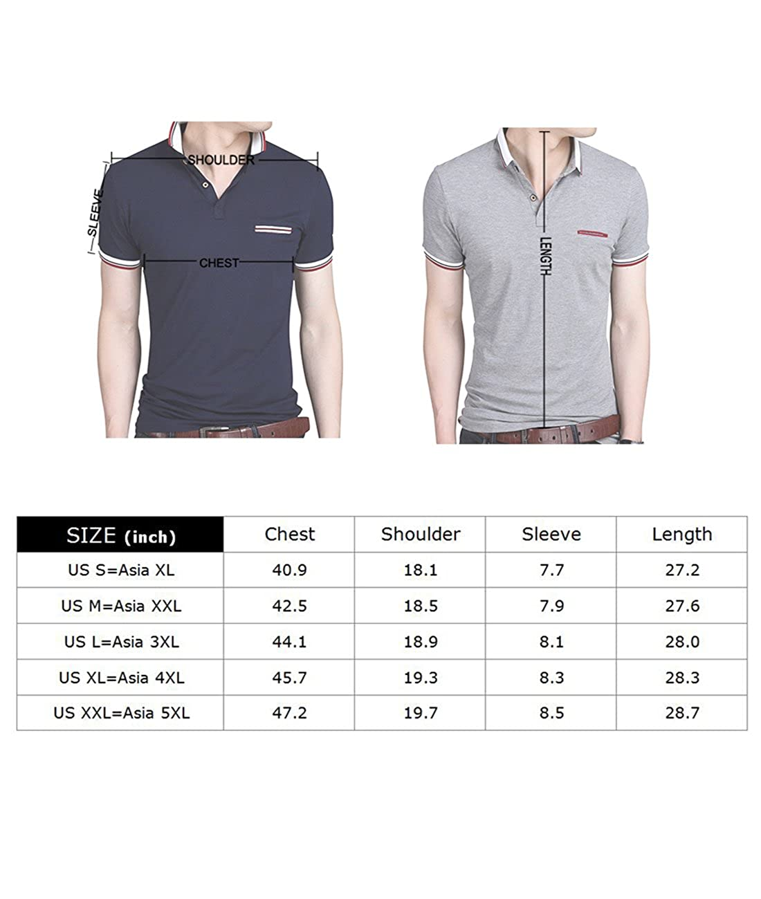 5e64c70dd7f Sanifer Men s Collared Shirt Summer Casual Short Sleeve Slim Fit Polo Shirts  T Shirts at Amazon Men s Clothing store