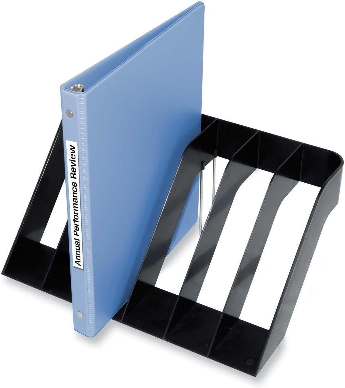 Kantek 6-Section Wide Sorter, 13-Inch Wide x 8.5-Inch Deep x 6-Inch High, Black (S1510)