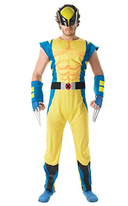 Rubies Official Marvel Wolverine Deluxe, Adult Costume - Standard Size