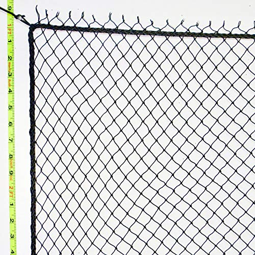 8' X 20' Barrier Net & Containment Netting, 1.5mm Nylon Netting, Perimeter Rope Strung, Bird Netting, Golf Barrier Netting, Sport Netting, Soccer, Volleyball, Baseball, Softball, Tennis, ()