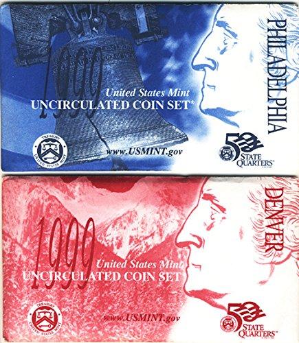1999 2007 State Quarter Coins - 1999 P, D 1999 thru 2009 U.S. Mint Sets - 11 Set Combo Deal Uncirculated