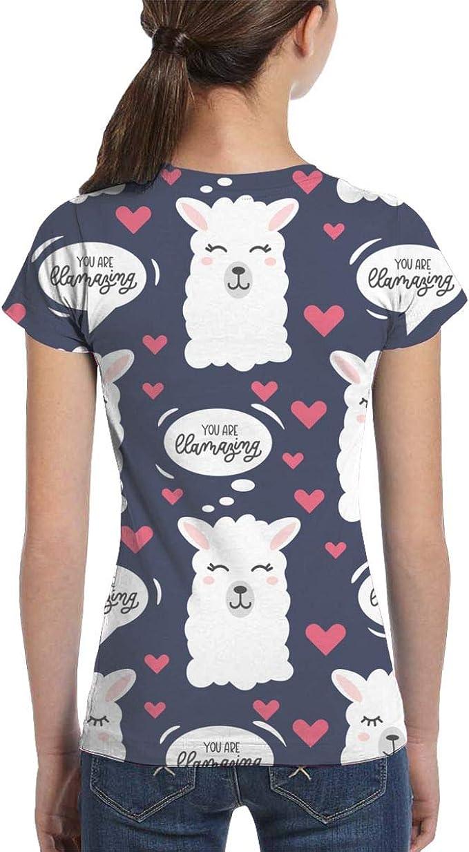 L6Nv4o@A Camisas llamativas de Manga Corta para niñas, Ropa de Blusa de Moda, XS-XL - Negro - X-Small: Amazon.es: Ropa y accesorios