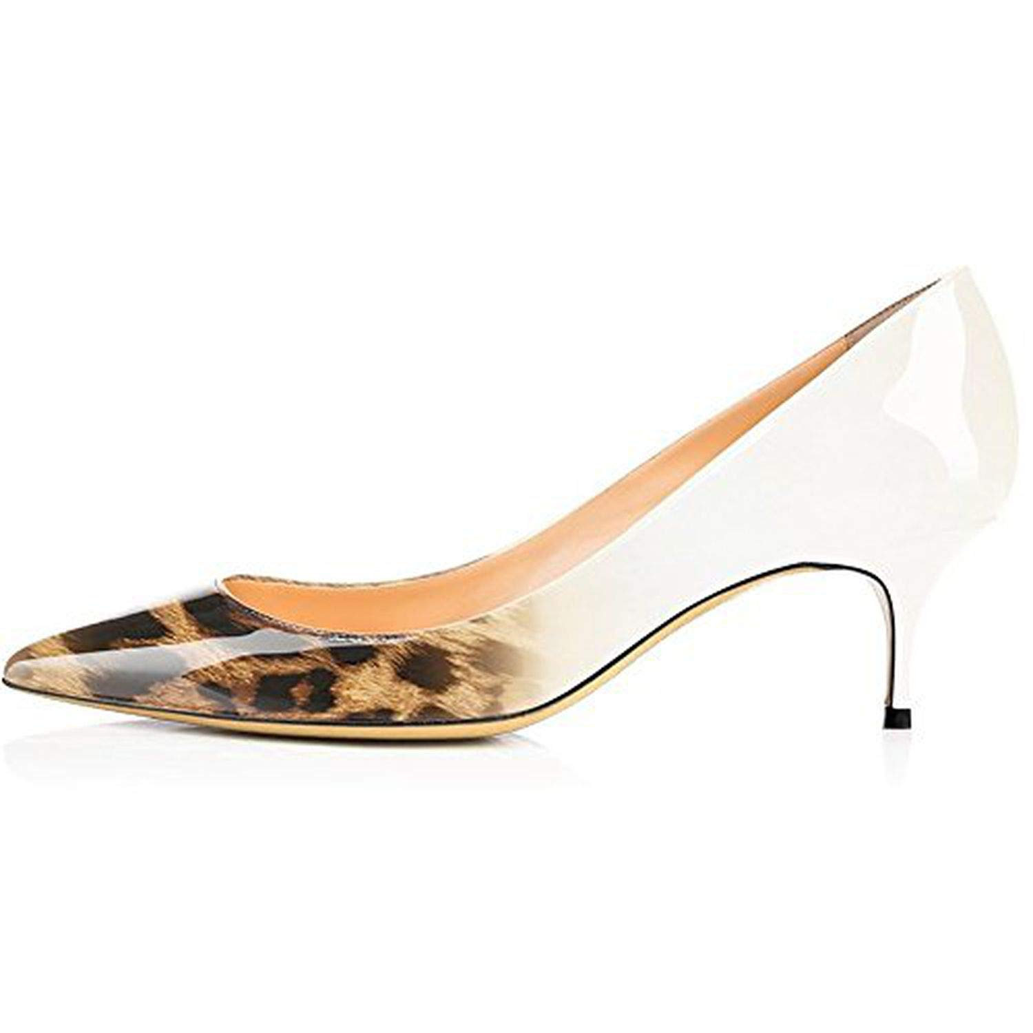 Brown Leopard Youthern Woman Heels Big Size Pumps shoes Sexy Pointed Toe High Heels Wedding Bridal shoes