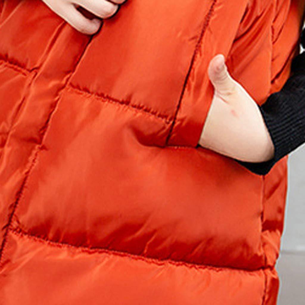 Susenstone Ragazze Piumino Gilet Bambini Cappotto Senza Maniche Giacche in Cotone Tinta Unita Cappotti Spesso Invernale Caldo Leggero Smanicato Antivento Capispalla Imbottito Giubbotti