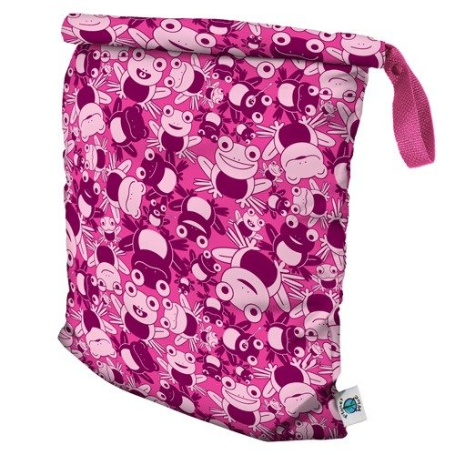 - Planet Wise Roll Down Wet Diaper Bag, Hopping Holly, Large