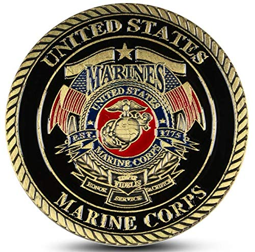 U.S. Marine Corps Devil Dog Military Challenge Coin - Shipped from USA