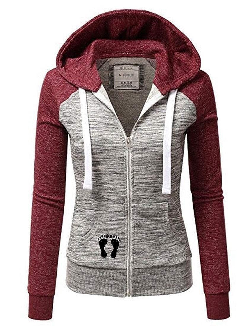 NatrE Womens Casual Hooded Coat Slim Blazer Parka Cardigan Zipper Stripe Jumper Sweatshirt Jacket Hoodies Coat