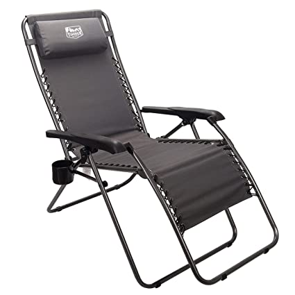 Fabulous Timber Ridge Zero Gravity Chair Locking Lounge Recliner For Outdoor Beach Patio Camping Support 300Lbs Gray Creativecarmelina Interior Chair Design Creativecarmelinacom