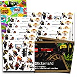 Lego Ninjago Stickers Party Favors Pack -- 12 Lego Ninja Sticker Sheets with Bonus Door Hanger (Lego Party Supplies)