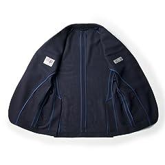 New Balloon Wool Jacket BYJ-05: Navy