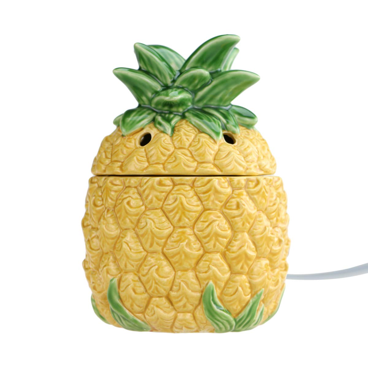 STAR MOON Wax Melt Warmer Electric, Candle Warmer for Wax Melt, Home Fragrance Diffuser, Home Décor, No Flame, with Ceramic Warming Plate (Pineapple)