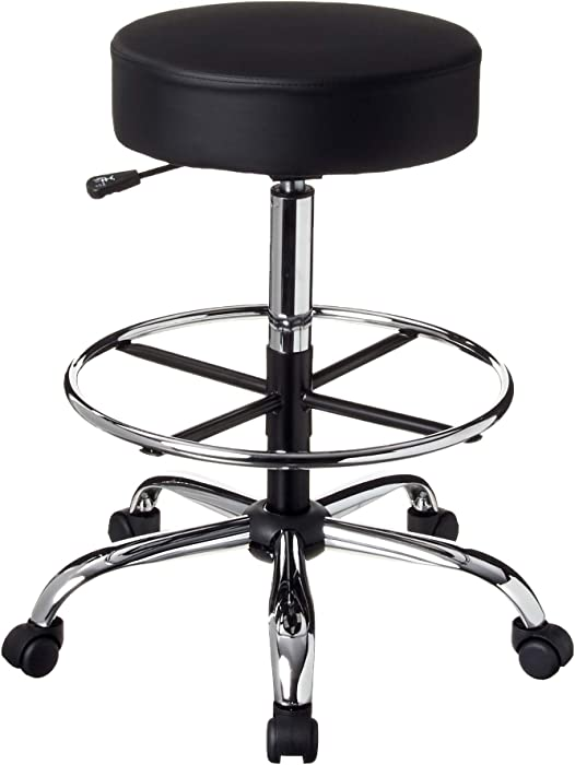 Boss Office Products Be Well Medical Spa Drafting Sool in Black