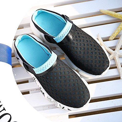 Hombres de Zuecos Sandalias Azul Malla Playa Verano Zapatos Ultraligero Respirable DADAZE Zapatillas SWdZOS4