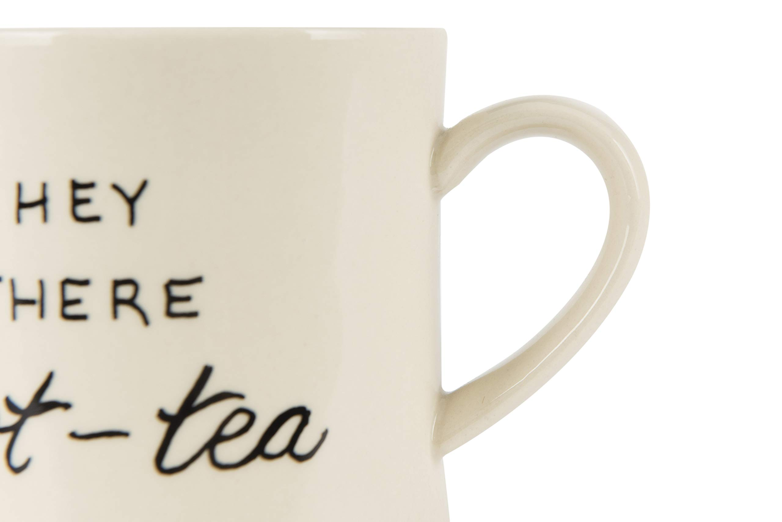 Creative Co-op Today's Good Mood is Sponsored by Tea White Stoneware (Set of 6 Sayings) Mug, by Creative Co-op (Image #4)