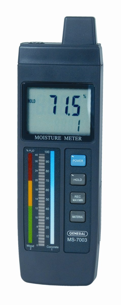 General Tools MMD7003 Moisture Meter, Pin Type, Digital LCD with Bar Graph