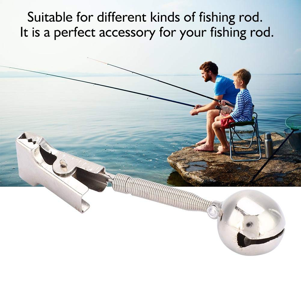 Spring Loaded Clip Sea Fishing Rod Bell Ring 16MM Diameter Fish Accessory VGEBY Fishing Rod Bell
