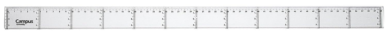 20x 20x 20x Regla 60 cm de Plástico Transparente Alta Calidad Graduada y Biselada 618ab1
