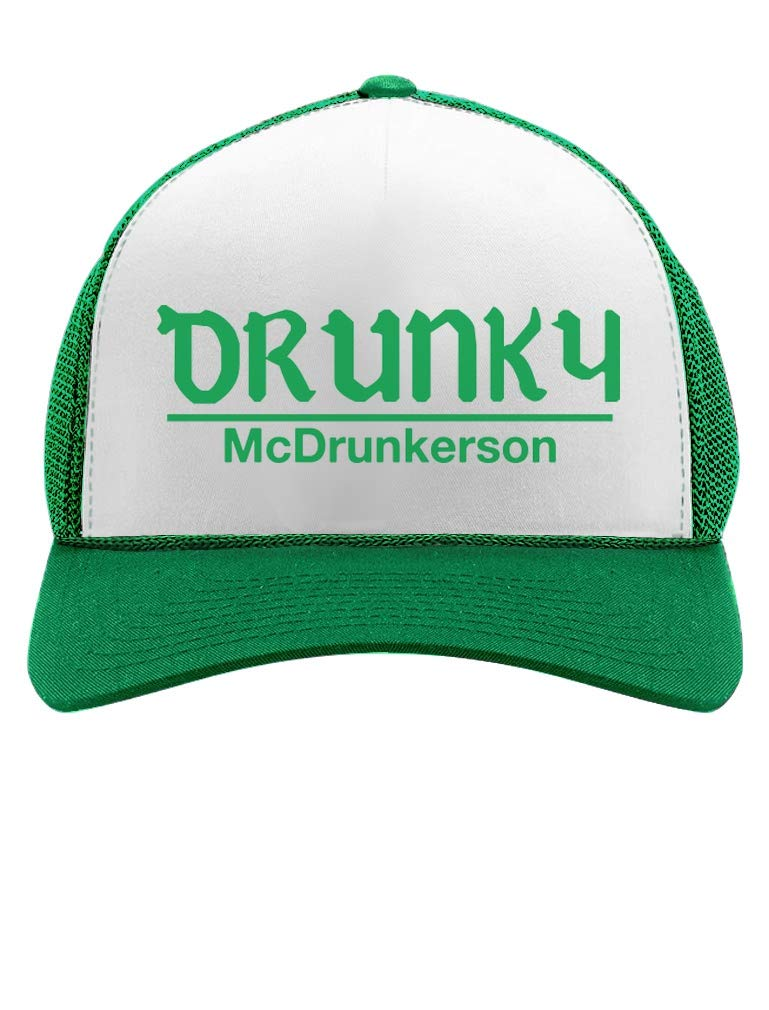 f5649236 Tstars - Drunky McDrunkerson Funny St. Patrick's Day Party Trucker Hat Mesh  Cap