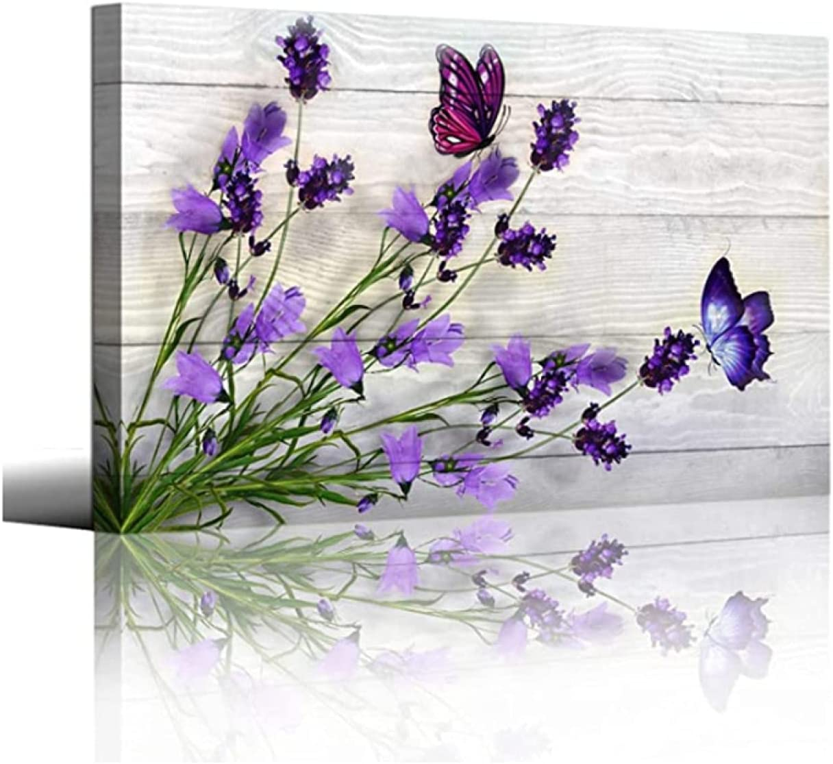 Flowers Canvas Wall Art Picture Prints for Bedroom Wall Decor Flowers are on Wooden Background Wall Art Decoration Artwork