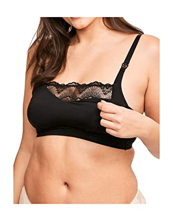 fed4817b18a02 Figleaves Womens Nursing Bralette Size 36G in Black 78% Polyamide 17%  Elastane 5% Cotton  Amazon.co.uk  Clothing