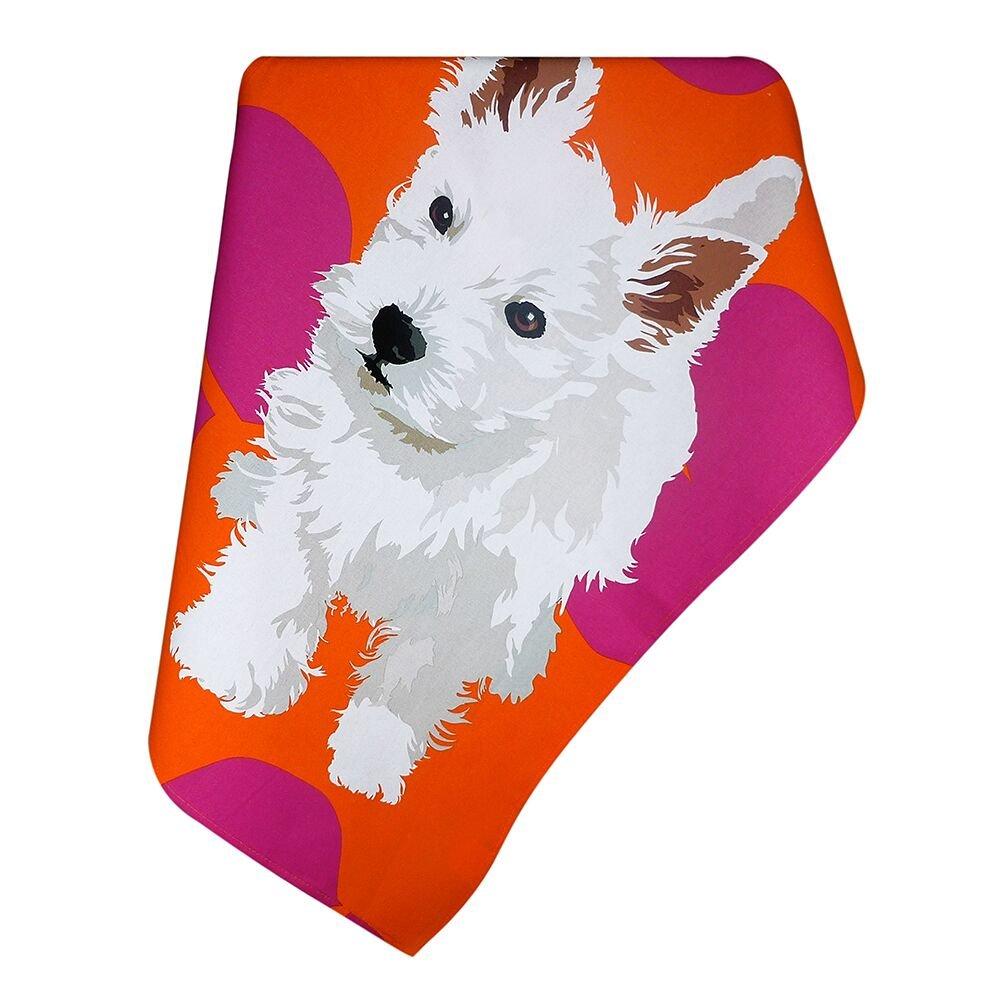 Leslie Gerry LGTEA015 Tea Towel Westie Puppy Dog