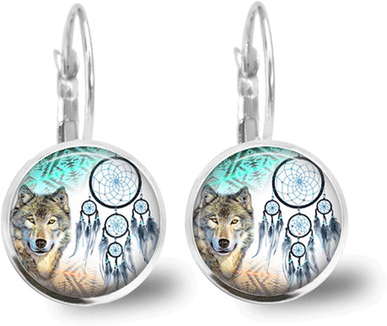 Lupo orecchini acchiappasogni animali gioielli