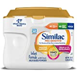 Similac Pro-Sensitive Infant Baby Formula Powder with Iron for Lactose Sensitivity, with 2'-FL HMO for Immune Support, Non-GM