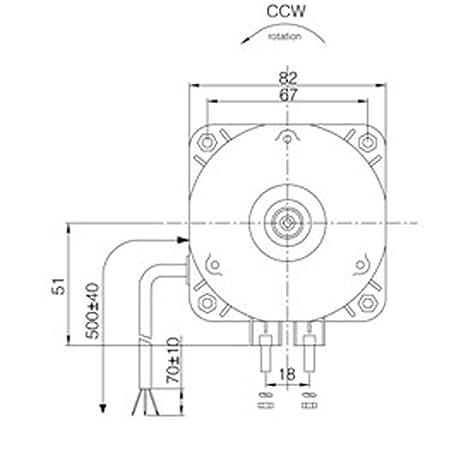 Amazon Com 25w Universal Refrigerator Fridge Freezer Fan Motor