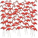 26'' Pink Flamingo Resin Garden Statues Lawn Ornament Retro Decor (50-Pack)