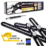 Bloomfields Innovations Multi-Angle Ruler and Multi Function Pen Bundle|Heavy Duty Aluminum Angle Ruler, Easily Set the Right Measurement|Free Protractor Angle finder, Measuring Tools Set by