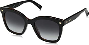 Max Mara Womens Mm Dots Ii Square Sunglasses Black Havana 52 mm
