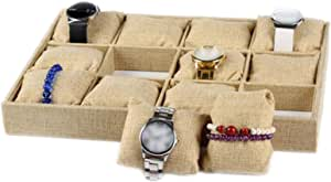 Joyero de tela para joyas, pulseras, anillos, pendientes ...