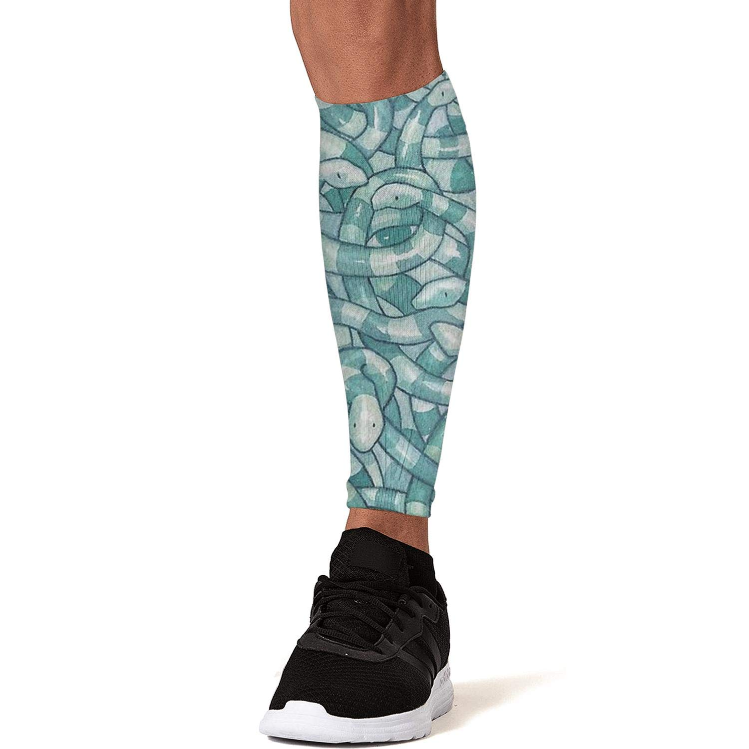 Smilelolly Serpent Snakes Calf Compression Sleeves Helps Shin Splint Leg Sleeves for Men Women