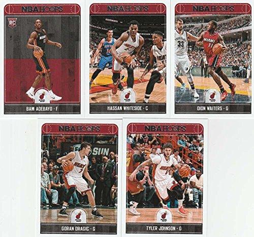 2017-18 Panini NBA Hoops Miami Heat Team Set of 10 Cards: Kelly Olynyk(#39), Hassan Whiteside(#65), Dion Waiters(#66), Goran Dragic(#67), Tyler Johnson(#68), James Johnson(#69), Justise Winslow(#70), Josh Richardson(#71), Udonis Haslem(#72), Bam Adebayo(#264)
