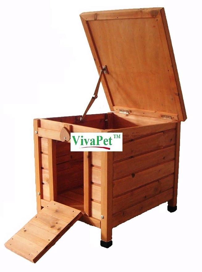 Amazon.com : Viva Pet Cat/Puppy/Rabbit/Guinea Pig Wooden Hide House ...